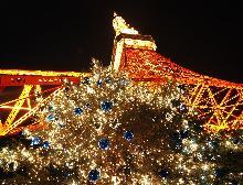 東京タワーのクリスマス風景