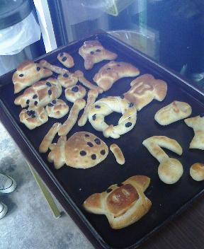 手作りパンの完成