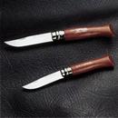 100年以上愛されている伝統の逸品 -オピネルー ステンレスローズ柄フォールディングナイフ (ストッパー付き)