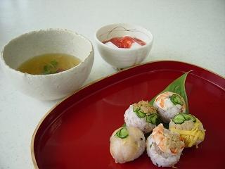 雛手まり寿司