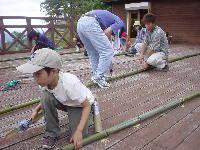 竹のサウンドタワーづくり!しょうへい活躍
