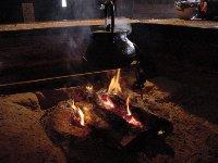 樹里庵の囲炉裏とブラックポットな鉄瓶