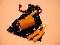 カッコウ・ウグイス笛セット!和柄巾着付き