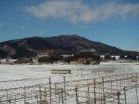 冬の蓬田岳。野鳥観察小屋へは車で無理!