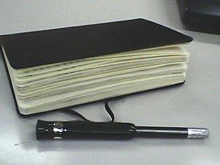 領収書貼ったモールスキン1