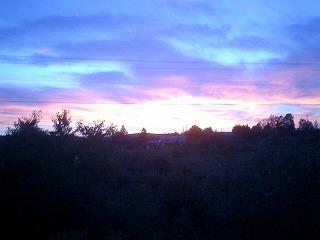 神秘的な夕日