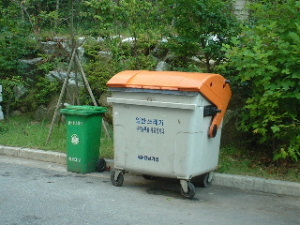 韓国のゴミ箱