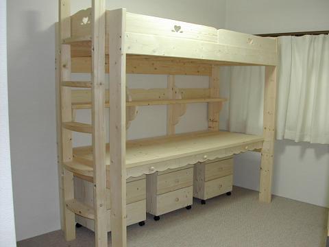 机付きベッド 1