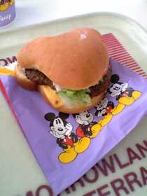 ミッキー型ハンバーガー
