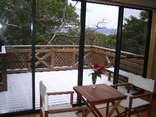 宿泊棟からの雪景色