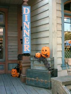 入り口のかぼちゃw