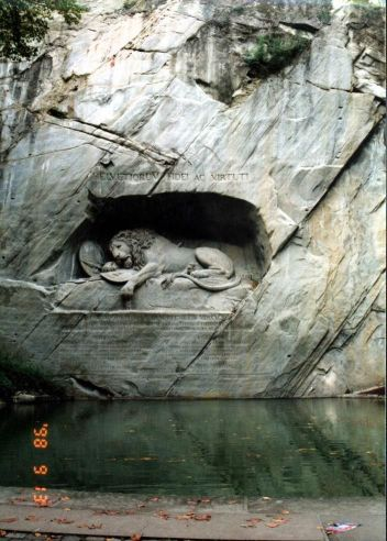 ルツェルンの死せるライオン像