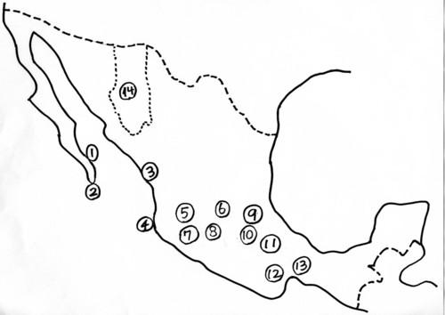 メヒコの地図