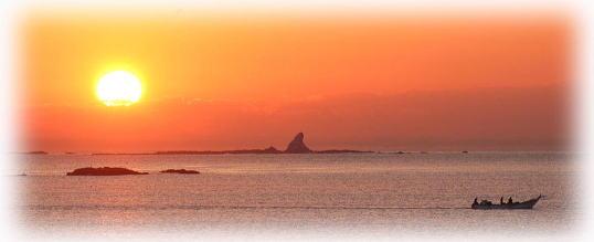 茅ケ崎海岸の朝日
