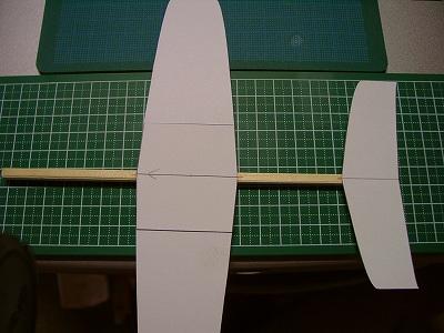 主翼水平尾翼接着