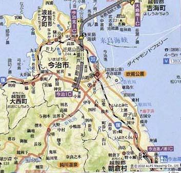地図 今治 市