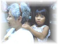敬老の日肩たたき券をプレゼント(^。^)