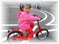 自転車の練習がお気に入り