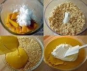 かぼちゃケーキ工程