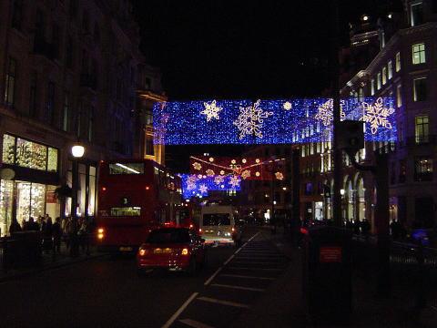 ロンドンの電飾