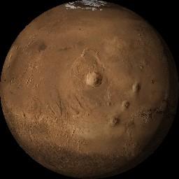 今年は火星が面白い 合成写真像 極冠 宇宙 楽天ブログ