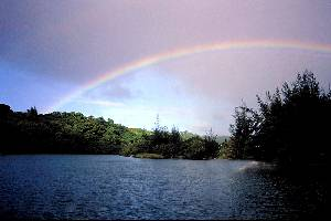 hanalei river rainb…