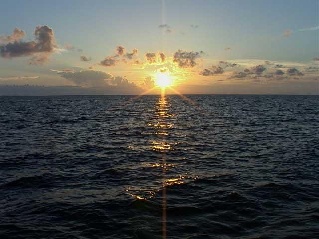 プリシア沖の夕日