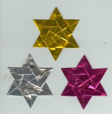 星に願いを・・・折り紙によるダビデの星