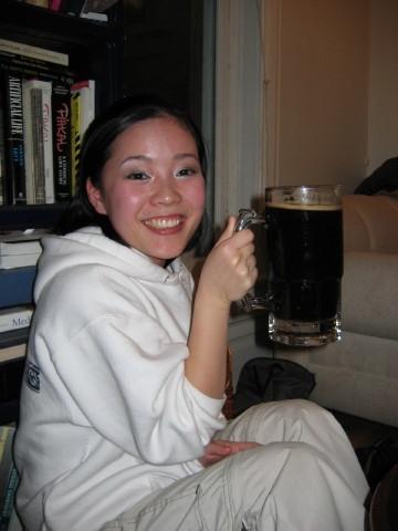 Koko with Beer