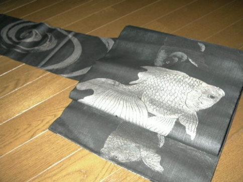 金魚 夏帯