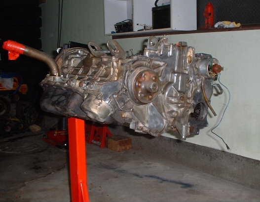 T360オーバーホール前のエンジン