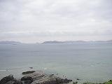 慶良間の島々が見える