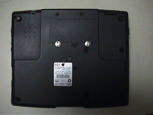 WX-1110z の裏面